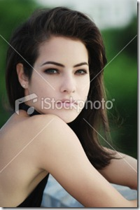 Dark haired woman1
